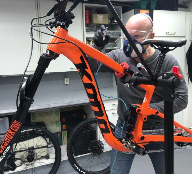 fiets laten coaten